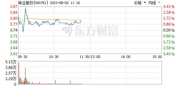 锌业股份(000751)
