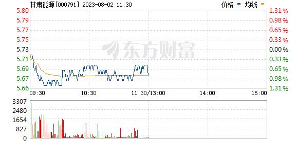 甘肃电投(000791)