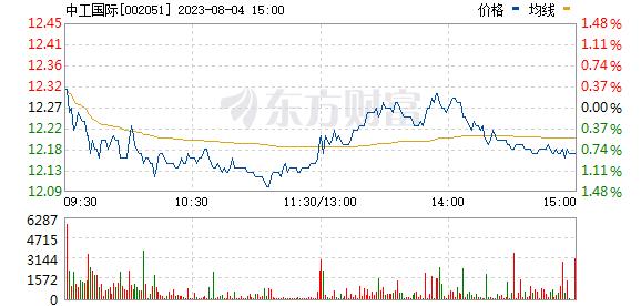 中工国际(002051)