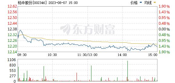 柘中股份(002346)