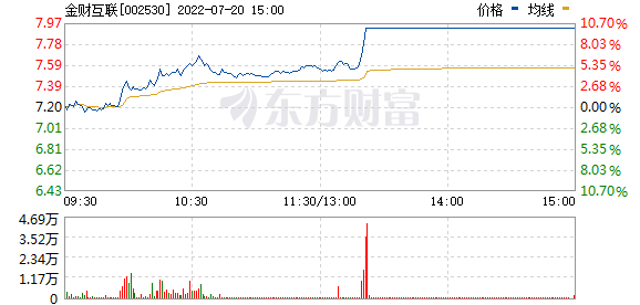金财互联(002530)
