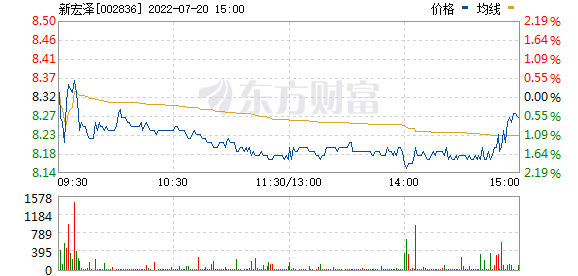 新宏泽(002836)