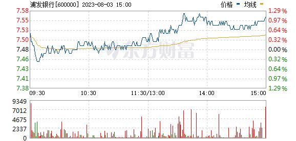 浦发银行(600000)