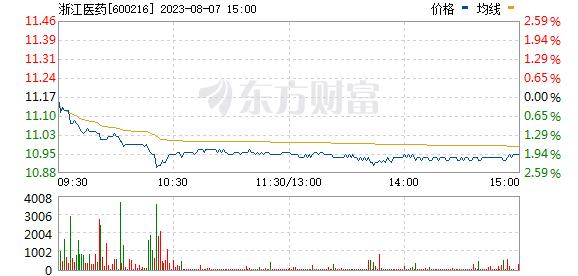 浙江医药(600216)
