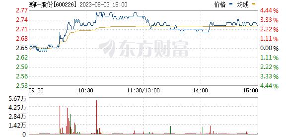 瀚叶股份(600226)