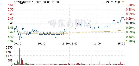 海越股份(600387)