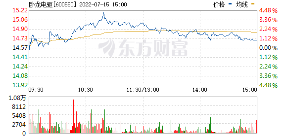 卧龙电气(600580)