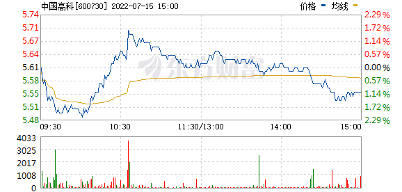 中国高科(600730)