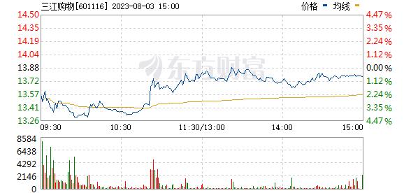 三江购物(601116)