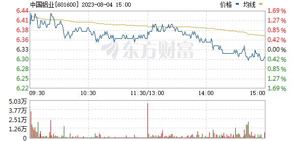 中国铝业(601600)