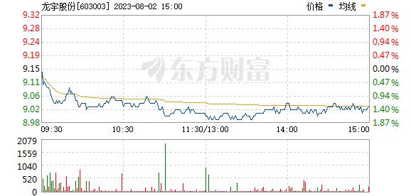 龙宇燃油(603003)