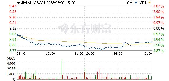 上海天洋(603330)