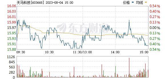天马科技(603668)