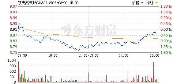 皖天然气(603689)