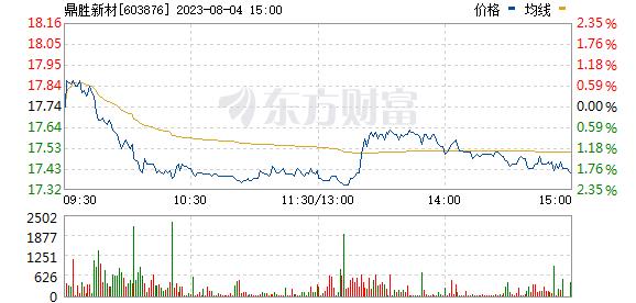 鼎胜新材(603876)